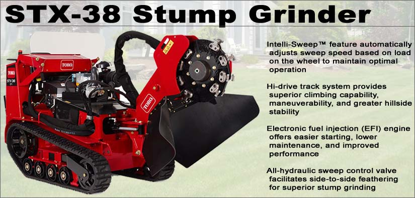 Do it yourself stump removal with the STX-38 stump grinder