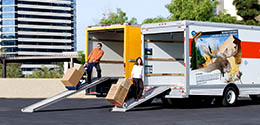 U-Haul trucks offer low loading deck making load and unloading easier