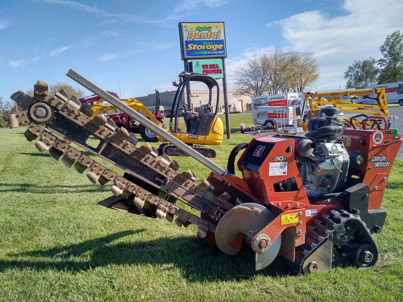 Ditch Witch Trencher Rental Columbus Indiana