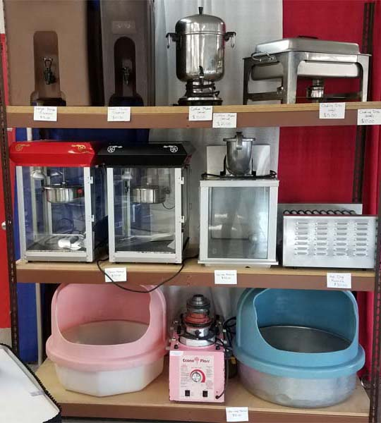 Popcorn Popper, Cotton Candy Machine, Hotdog Grill and More